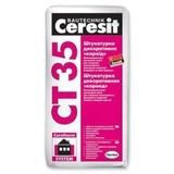 Штукатурка короед белая (зерно 2,5 мм.) Ceresit CT-35